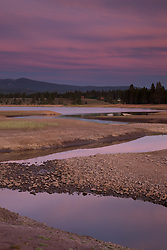 """Alder Creek at Prosser Reservoir Sunset 2"" - Photograph at sunset of Alder Creek at Prosser Reservoir near Truckee, California."