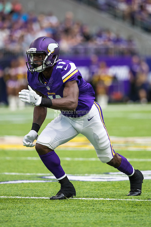 Aug 28, 2016; Minneapolis, MN, USA; Minnesota Vikings wide receiver Laquon Treadwell (11) during a preseason game against the San Diego Chargers at U.S. Bank Stadium. The Vikings defeated the Chargers 23-10. Mandatory Credit: Brace Hemmelgarn-USA TODAY Sports
