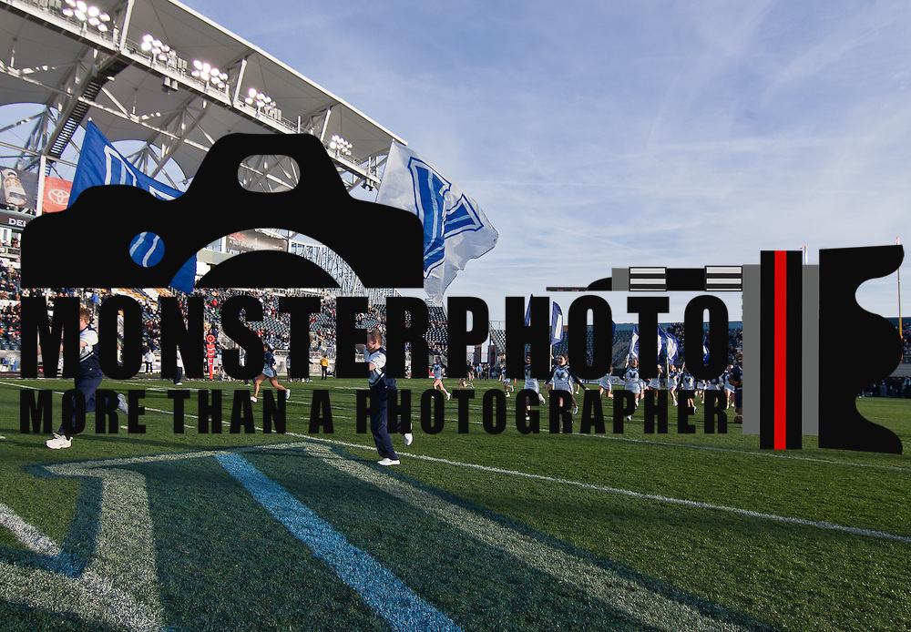 11/19/11 Chester PA: Villanova prepare to take the field for a Colonial Athletic Association game against delaware Saturday, Nov. 19, 2011 at PPL Park in Chester PA...Special to The News Journal/SAQUAN STIMPSON