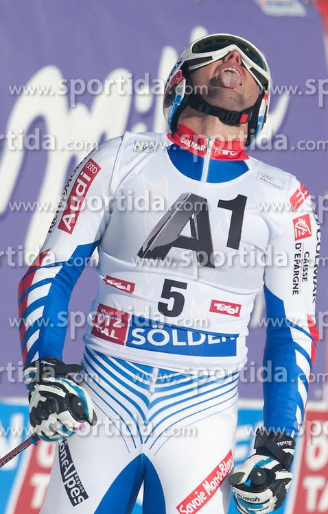 23.10.2011, Rettenbachferner, Soelden, AUT, FIS World Cup Ski Alpin, Herren, Riesenslalom, im Bild Thomas Fanara (FRA) // during Mens ginat Slalom at FIS Worldcup Ski Alpin at the Rettenbachferner in Solden on 23/10/2011. EXPA Pictures © 2011, PhotoCredit: EXPA/ Johann Groder
