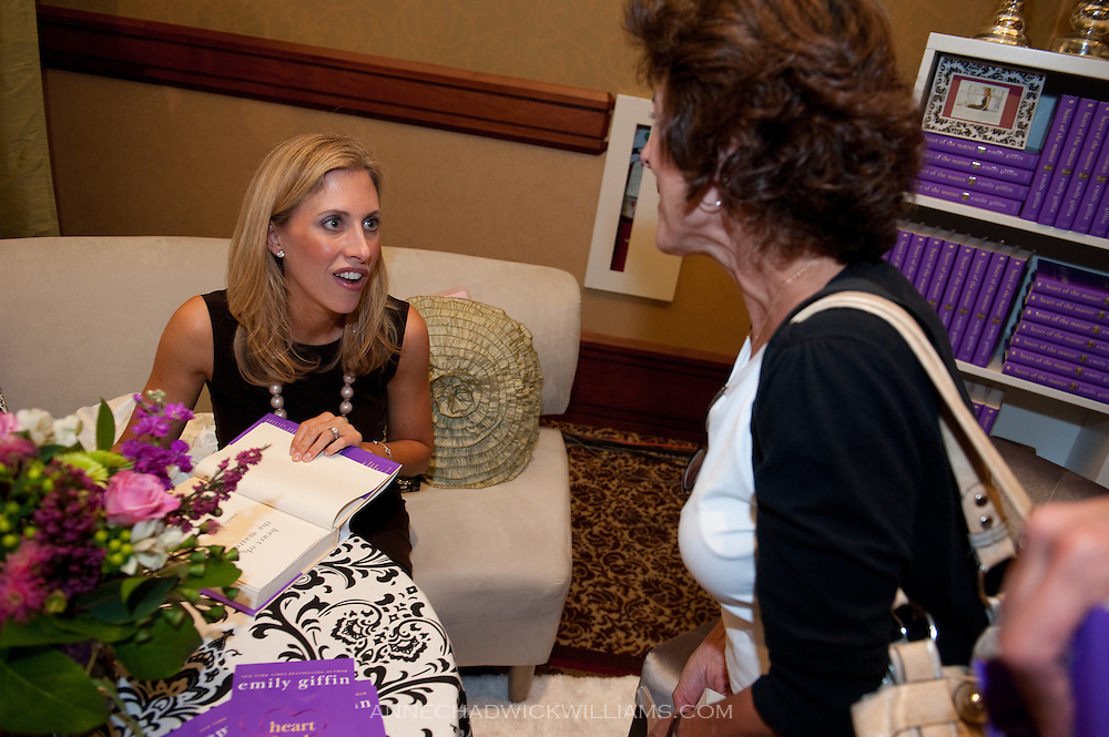 "Bestselling author Emily Giffin speaks to an audience about her new book, ""Heart of the Matter"" in at the Sheraton in Sacramento, CA."