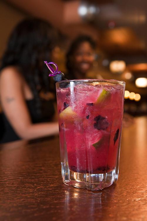 A blueberry cocktail at Ben's Next Door on trendy U Street.