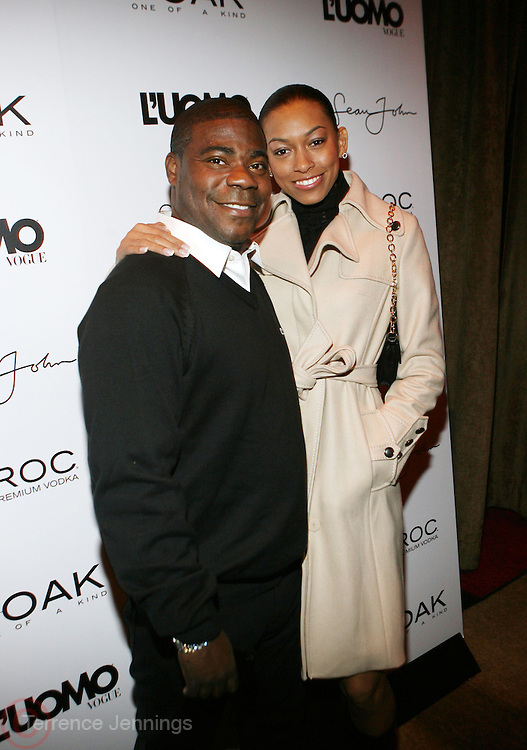 "Tracy Morgan and Guest at the cocktail party celebrating Sean ""Diddy"" Combs appearance on the "" Black on Black "" cover of L'Uomo Vogue's October Music Issue"