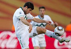 Bojan Jokic of Slovenia during the 2010 FIFA World Cup South Africa Group C match between Slovenia and USA at Ellis Park Stadium on June 18, 2010 in Johannesberg, South Africa. (Photo by Vid Ponikvar / Sportida)