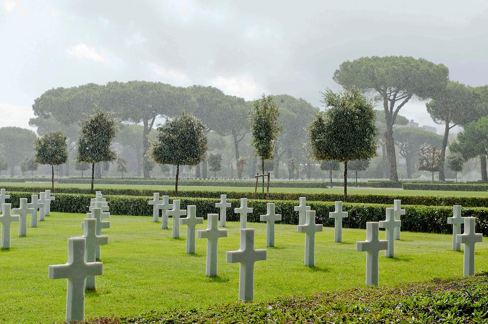 The American cemetery Anzio-Nettuno, Italy.