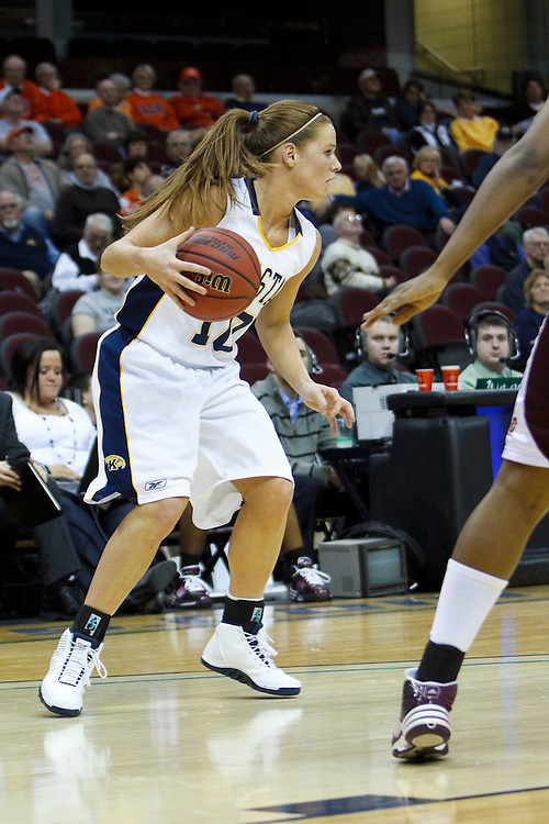 13 March 2010:   Kent State's Rachel Bennett (10) during the MAC Tournament game basketball game between Kent State and Central Michiganat Quicken Loans Arena in Cleveland, Ohio.