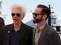 Director Jim Jarmusch and Carter Logan at the Gimme Danger film photo call at the 69th Cannes Film Festival Thursday 19th May 2016, Cannes, France. Photography: Doreen Kennedy