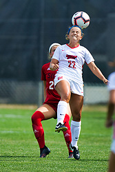 NORMAL, IL - August 10:  Abby Basler during a nonconference exhibition women's soccer match between the Southern Illinois Edwardsville Cougars and the Illinois State Redbirds August 10 2019 on Adelaide Street Field in Normal IL (Photo by Alan Look)