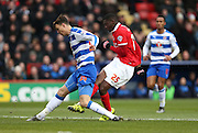 Charlton Athletic striker Yaya Sanogo (25) scores to make it 1-1 during the Sky Bet Championship match between Charlton Athletic and Reading at The Valley, London, England on 27 February 2016.