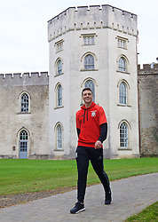 CARDIFF, WALES - Friday, October 7, 2016: Wales' James Chester strolls past Hensol Castle during a team walk at the Vale Resort ahead of the 2018 FIFA World Cup Qualifying Group D match against Georgia. (Pic by David Rawcliffe/Propaganda)