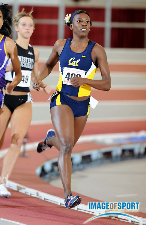 Mar 14, 2008; Fayetteville, AR, USA; Alysia Johnson of Cal was second in women's 800m heat in 2:06.48 in the NCAA Indoor track and field championships at the Randal Tyson Center. Mandatory Credit: Kirby Lee/Image of sport-US PRESSWIRE