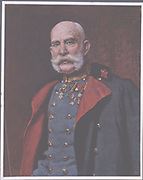 Franz-Joseph I (1830-1916), Emperor of Austria from 1848. After the portrait by Leopold Horowitz.