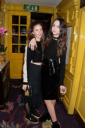 Left to right, RUBY BOGLIONI and TISH WEINSTOCK at Tatler Magazine's Little Black Book Party held at Annabel's, Berkeley Square, London on 5th November 2013.