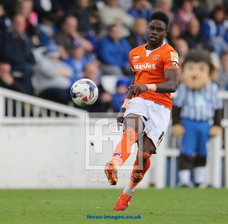 Pelly Ruddock of Luton Town during the Sky Bet League 2 match at Victoria Park, Hartlepool<br /> Picture by Simon Moore/Focus Images Ltd 07807 671782<br /> 18/10/2014