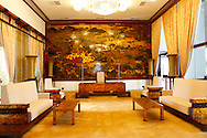 The Vice President's reception salon in <br /> the Presidential Palace in Saigon.  <br /> <br />  photo by Dennis Brack
