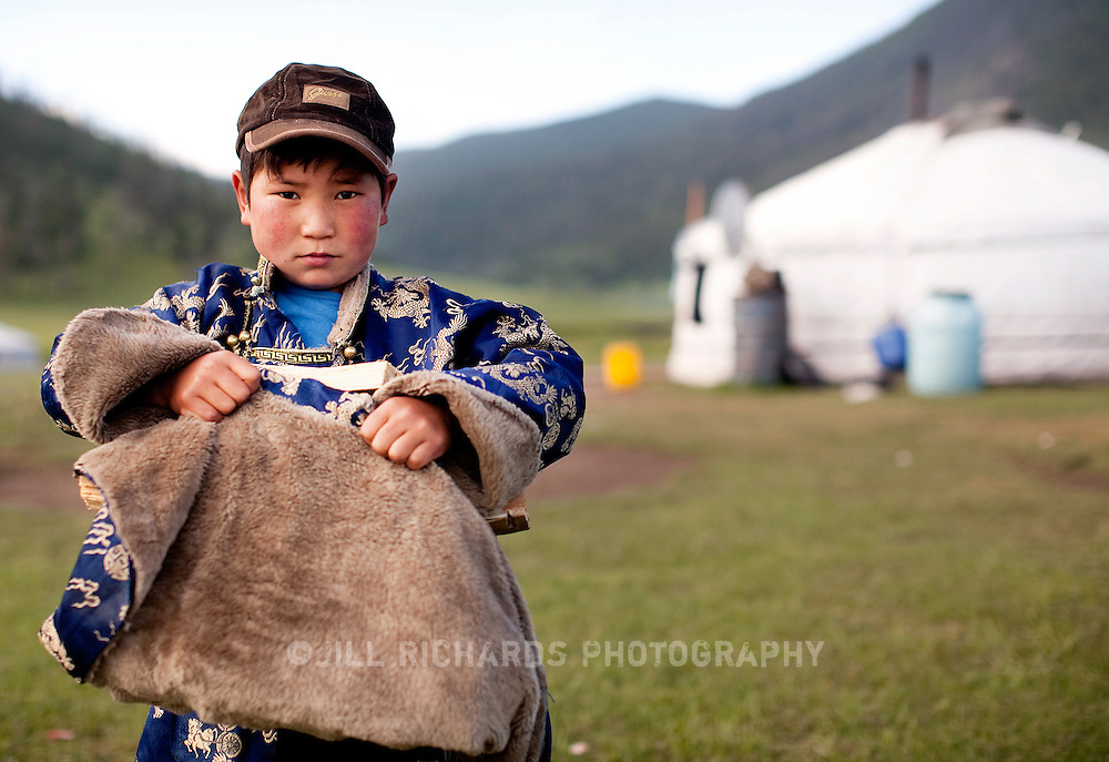 Travel to Mongolia which included horse trekking through Mongolia steppes near Kharkhorin and visiting families at a Naadam festival in Khovd province.