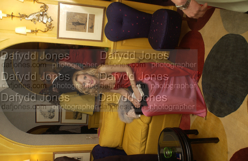 Charlotte Noble, Plum sykes, Cartier, Alexander McQueen and Viking hold a party  for Plum Sykes's book Bergdorf Blondes, Annabel's. 4 May 2004. SUPPLIED FOR ONE-TIME USE ONLY> DO NOT ARCHIVE. © Copyright Photograph by Dafydd Jones 66 Stockwell Park Rd. London SW9 0DA Tel 020 7733 0108 www.dafjones.com