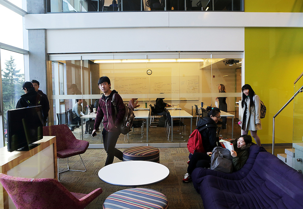 An unusual effort to assimilate foreign students and prepare them for attending an American university is run jointly by a private company, INTO, and Oregon State University in Corvallis, Ore. The students live and study in a campus building.