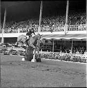"06/08/1960<br /> 08/06/1960<br /> 06 August 1960<br /> R.D.S Horse Show Dublin (Saturday). Mrs Dawn Wofford on ""Hollandia""."