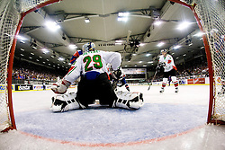 Goalie Zoltan Hetenyi of Hungary at IIHF Ice-hockey World Championships Division I Group B match between National teams of Hungary and Slovenia, on April 23, 2010, in Tivoli hall, Ljubljana, Slovenia. (Photo by Matic Klansek Velej, Vid Ponikvar / Sportida)