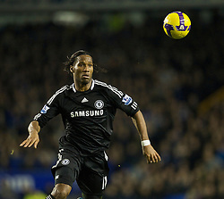 LIVERPOOL, ENGLAND - Monday, December 22, 2008: Chelsea's Didier Drogba in action against Everton during the Premiership match at Goodison Park. (Photo by David Rawcliffe/Propaganda)