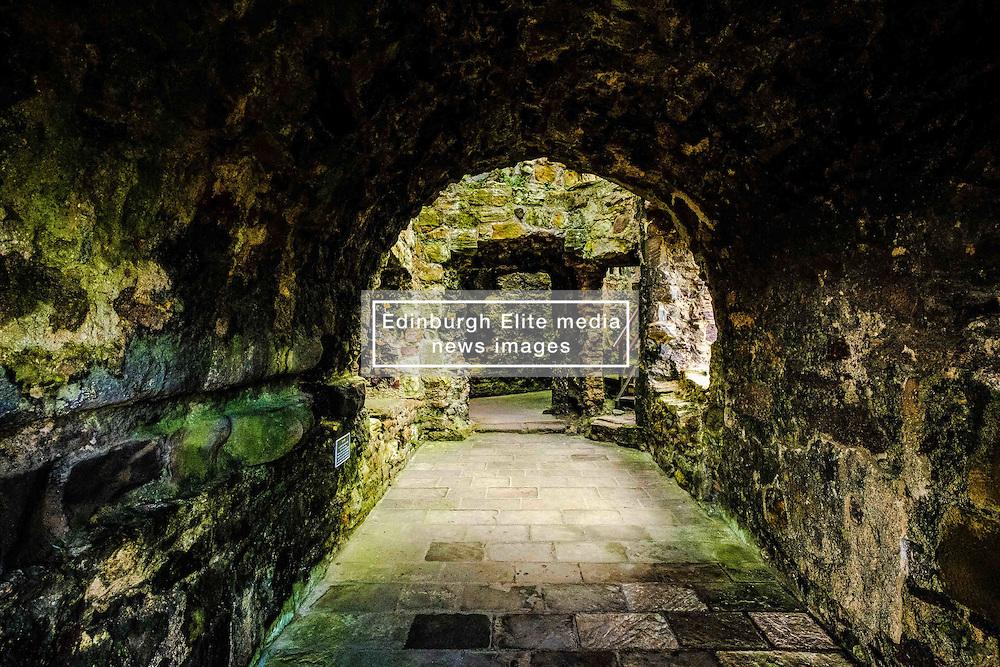 Dirleton Castle, a ruined medieval fortress in the village of Dirleton, East Lothian, Scotland.<br /> <br /> (c) Andrew Wilson | Edinburgh Elite media