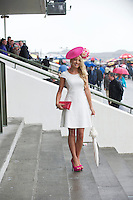 31/07/2013 Suzanne Wall from Limerick at the third day of the Galway Races  .   Picture:Andrew Downes