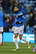 Huddersfield's Danny Williams warms up during the The FA Cup match between Huddersfield Town and Manchester United at the John Smiths Stadium, Huddersfield, England on 17 February 2018. Picture by George Franks.