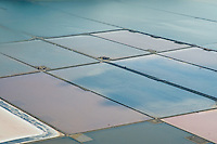 Aerial view of Salt Mines or Ponds in Ibiza Spain Aerial views of artistic patterns in the earth.