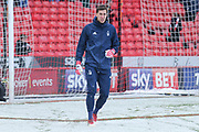 Castel Pantilimon of Nottingham Forest (1) during the EFL Sky Bet Championship match between Sheffield United and Nottingham Forest at Bramall Lane, Sheffield, England on 17 March 2018. Picture by Mick Haynes.