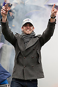 The Baltimore Ravens kicker Justin Tucker at teams Super Bowl XLVII Celebration at M&T Bank Stadium on Tuesday, February 5, 2013 in Baltimore, MD.
