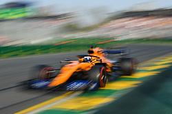 March 16, 2019 - Melbourne, Victoria, Australia - Carlos Sainz Jr. (55) of Spain drives the McLaren F1 Team MCL34 during qualifying for the Australian Formula 1 Grand Prix at Albert Park on March 16, 2019 in Melbourne, Australia  (Credit Image: © Morgan Hancock/NurPhoto via ZUMA Press)