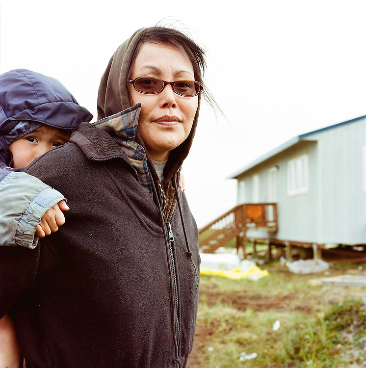 A family relocating to Mertarvik from Newtok due to land erosion in Newtok. 2008