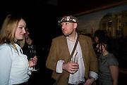 ELENA PAVLENKO; ROMAN SHTEKELMAN, Imperial and Royal Presents. Russian auction. Sotheby's. New Bond St. London. 23 November 2008.  *** Local Caption *** -DO NOT ARCHIVE-© Copyright Photograph by Dafydd Jones. 248 Clapham Rd. London SW9 0PZ. Tel 0207 820 0771. www.dafjones.com.