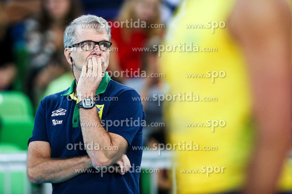 Bernardo Rezende, head coach of Brazil, during friendly volleyball match between national teams of Slovenia and Brasil in Arena Stozice on 9. September 2015 in , Ljubljana, Slovenia. Photo by Matic Klansek Velej / Sportida