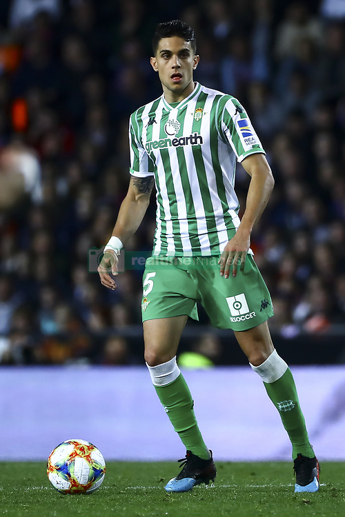 February 28, 2019 - Valencia, Spain - Marc Bartra of Real Betis Balompie During Spanish King La Copa match between  Valencia cf vs Real Betis Balompie Second leg  at Mestalla Stadium on February 28, 2019. (Photo by Jose Miguel Fernandez/NurPhoto) (Credit Image: © Jose Miguel Fernandez/NurPhoto via ZUMA Press)