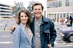 American actor Robert Wagner and his actress wife Natalie Wood at Heathrow Airport in London before leaving to present the prizes at the Cannes Film Festival.