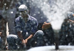 June 2, 2017 - Kathmandu, Nepal - Nepalese Muslims wash themselves upon their arrival during the Muslim holy month of Ramadan in Kathmandu, Nepal on June 02, 2017. (Credit Image: © Skanda Gautam via ZUMA Wire)