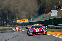 Davide Rigon (ITA) / Sam Bird (GBR) #71 AF Corse Ferrari 488 GTE, Free Practice 1  as part of the WEC 6 Hours of Spa-Francorchamps 2016 at Spa-Francorchamps, Stavelot, , Belgium . May 05 2016. World Copyright Peter Taylor/PSP.  Copy of publication required for printed pictures.  Every used picture is fee-liable. http://archive.petertaylor-photographic.co.uk