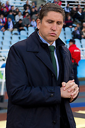 15.12.2013, Anoeta Stadium, San Sebastian, ESP, Primera Division, Real Sociedad vs Real Betis, 16. Runde, im Bild Betis' coach Juan Carlos Garrido // Betis' coach Juan Carlos Garrido during the Spanish Primera Division 16th round match between Real Sociedad and Real Betis at the Anoeta Stadium in San Sebastian, Spain on 2013/12/15. EXPA Pictures © 2013, PhotoCredit: EXPA/ Alterphotos/ Mikel<br /> <br /> *****ATTENTION - OUT of ESP, SUI*****
