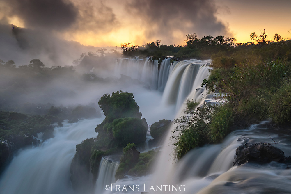 Iguazu Falls at sunrise, Iguazu National Park, Argentina