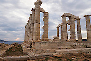 Temple of Poseidon, god of the sea was built on the south east tip of Attica was built in the 5th century BC.