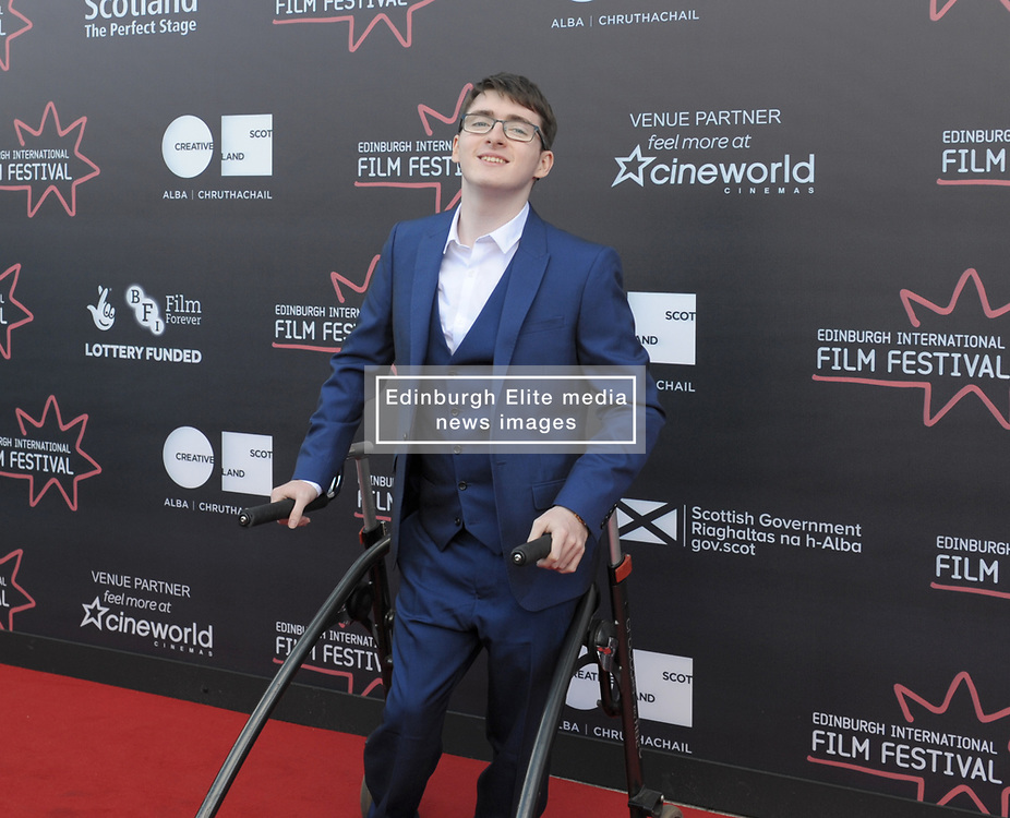 Edinburgh International Film Festival, Thursday, 21st June 2018<br /> <br /> 'EATEN BY LIONS' World Premiere<br /> <br /> Pictured: Jack Carroll<br /> <br /> (c) Aimee Todd | Edinburgh Elite media
