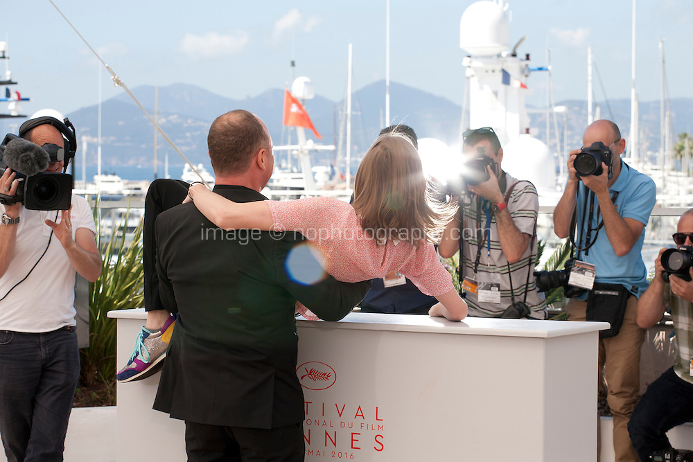 Director Karim Dridi and Emma Soisson at the Chouf film photo call at the 69th Cannes Film Festival Monday 16th May 2016, Cannes, France. Photography: Doreen Kennedy