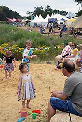 Latitude Festival, Henham Park, Suffolk, UK July 2019. Sandpit in kids area