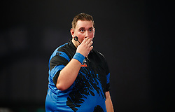 Kevin Munch looks dejected during his match against Toni Alcinas  during day eleven of the William Hill World Darts Championship at Alexandra Palace, London. PRESS ASSOCIATION Photo. Picture date: Wednesday December 27, 2017. See PA story DARTS World. Photo credit should read: John Walton/PA Wire. RESTRICTIONS: Use subject to restrictions. Editorial use only. No commercial use.