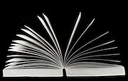 Abstract view of an open book.