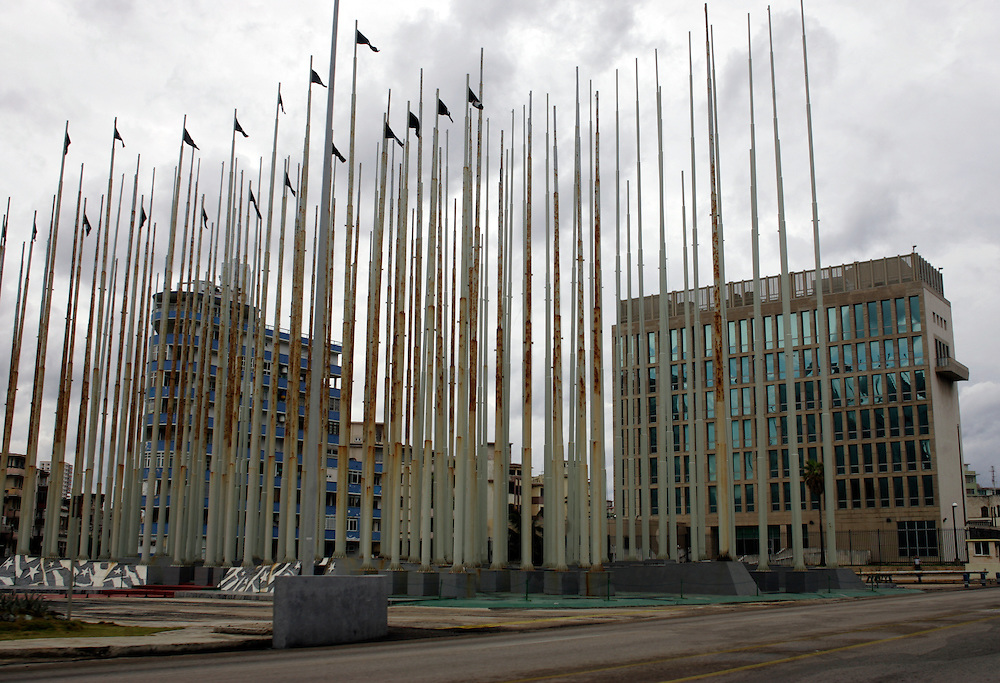 The US embassy in Havana, Cuba.<br />