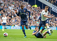 Football - 2019 / 2020 Premier League - Tottenham Hotspur vs. Watford<br /> <br /> Harry Winks (Tottenham FC)  leaps over the challenge of Craig Dawson (Watford FC) at The Tottenham Hotspur Stadium.<br /> <br /> COLORSPORT/DANIEL BEARHAM