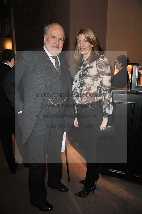 CLAUS VON BULOW and his daughter COUNTESS RICCARDO PAVONCELLI at a party to celebrate the launch of Simon Sebag-Montefiore's new book - 'Jerusalem: The Biography' held at Asprey, 167 New Bond Street, London on 26th January 2011.